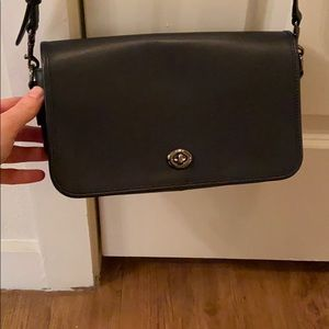 Coach Navy crossbody handbag (price negotiable)